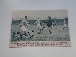 """Origineel Knipsel ( 7041 ) Uit Tijdschrift """"  De Stad """" 1936 : Voetbal  Football   Racing  Gent - Turnhout - Non Classés"""