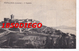 POPULONIA ( LIVORNO ) - IL CASTELLO F/PICCOLO VIAGGIATA - Livorno