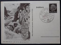 DR Ganzsache P242-03 (Gebirgsjäger-Narvik) Mit Sonderstempel (1516) - Stamped Stationery