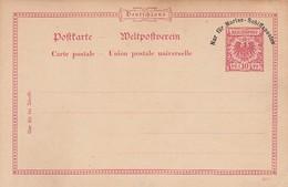 Deutsches Reich Kolonien Postkarte P1 1897 Nur Fur Marine Schiffsposten - Allemagne