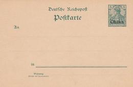 Deutsches Reich Kolonien China Postkarte P10-Y 1901 - Kantoren In China