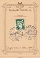 Deutsches Reich Postkarte 1941 Tag Der Briefmarke - Gebruikt