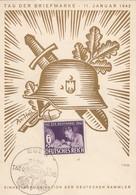 Deutsches Reich Postkarte 1942 Tag Der Briefmarke - Gebruikt