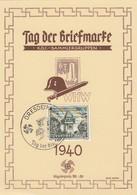 Deutsches Reich Postkarte 1940 Tag Der Briefmarke - Duitsland