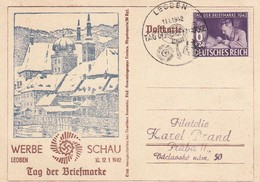 Deutsches Reich Postkarte 1942 Tag Der Briefmarke - Duitsland