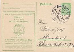 Deutsches Reich Postkarte 1937 Tag Der Briefmarke - Duitsland