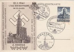 Deutsches Reich Postkarte 1941 Tag Der Briefmarke - Duitsland