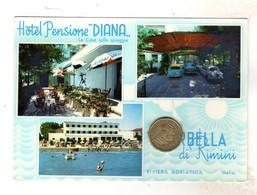 VISEBELLA  RIMINI HOTEL PENSIONE DIANA Viaggiata 1966 - Rimini