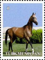 Turkmenistan 2014, Definitive, Ahalteke Horsejumps, 1v - Turkmenistán