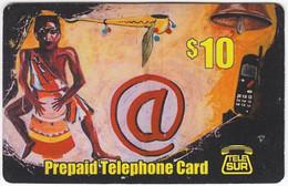 SURINAME A-006 Prepaid TeleSur - Painting, Traditional Art - Used - Surinam