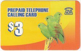 SURINAME A-007 Prepaid TeleSur - Animal, Bird, Parrot - Used - Surinam