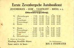 Zevenbergen Autobusdienst Dienstregeling 4198 - Europe