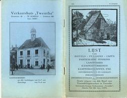 Twenthe Lijst Van Hotels 1933    4410 - Otros