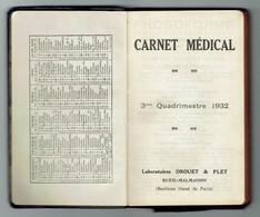 Agenda De Médecin - 3ème Quadrimestre 1932 (vierge) - Boeken, Tijdschriften, Stripverhalen