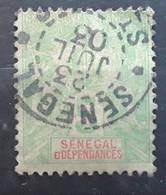 SÉNÉGAL 1900, Type Groupe Yvert No 21, 5 C Vert Jaune Obl Cachet ST LOUIS , 23 Juin 1903, TTB - Usados