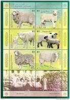 FAUNA - SHEEPS - VF ARGENTINA 2009 SHEET - FEUILLET - MINT (NH) - Fattoria