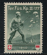 Suisse /Schweiz/Switzerland // Vignette Militaire // Troupe Territoriale, Ter.Füs.Kp.III/177 - Poste Militaire