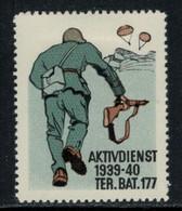 Suisse /Schweiz/Switzerland // Vignette Militaire // Troupe Territoriale, Ter.Bat.177 - Poste Militaire