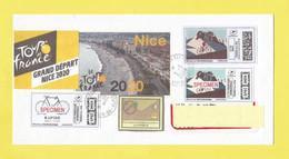 Lettre Du Tour De France Cycliste Ou Cyclisme Pendant Le Covid19 Du 29 08 Au 20 9 2020 Oblitéré Du 09 09 20 De NICE - Unclassified