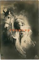 3 Postcard Italy Art Woman Whit Horse 1917 - Women