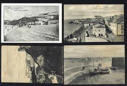 Conjunto De 4 Postais Antigos SINES. Lot Of 4 Old Postcards From SETUBAL Portugal - Setúbal