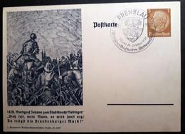 DR Privatpostkarte PP 122 C61  Mit Sonderstempel Prenzlau (106) - Postwaardestukken