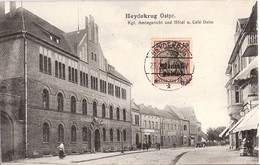 HEYDEKRUG Ostpreußen Silute Litauen Hotel Cafe Belebt 23.2.1921 Überdruck TOP-Erhaltung - Lituania