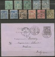 France - Type Sage - Dép.53 Mayenne - Landivy, Villaines, Meslay, Evron, Lassay, Ambrières, Château-Gonthier, Laval - 1877-1920: Semi Modern Period