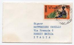 SOMALIA/SOMALIE -1963 LILIPUT COVER / BUSINESS CARD / BIGLIETTO DA VISITA PER ITALIA / THEMATIC STAMP-AGRICOLTURE - Somalia (1960-...)
