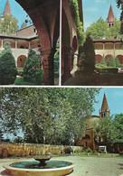 "9196 ""BADIA POLESINE-ABBAZIA DELLA VANGADIZZA"" 3 VEDUTE -CART. POST. ORIG. SPED.1970 - Rovigo"