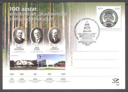 100 Years Of Academic Forestry Education Estonia 2018 Stationary Postcard # 109 FDC - Estland