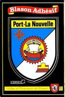 """PORT-LA NOUVELLE Wappen Postkarte (Aufkleber) Fa. Kroma """"Blason Adhésif"""" - Autocollant - Port La Nouvelle"""
