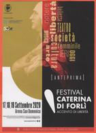 Arena San Domenico Forlì - Festival Caterina Di Forlì - Accento Di Libertà - Volantino Pubblicitario - Dépliants Turistici