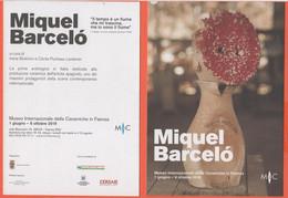 Museo Internazionale Delle Ceramiche In Faenza - Miquel Barceló - Mostra - Volantino Pubblicitario - Dépliants Turistici