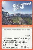 ITALIA - ITALY - ITALIE - Val Di Fassa - Panorama Pass - Biglietto Funivie Abbonamento Adulto - Used - Week-en Maandabonnementen