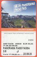 ITALIA - ITALY - ITALIE - Val Di Fassa - Panorama Pass - Biglietto Funivie Abbonamento Settimanale Junior - Used - Week-en Maandabonnementen