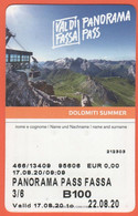 ITALIA - ITALY - ITALIE - Val Di Fassa - Panorama Pass - Biglietto Funivie Abbonamento Settimanale Bambino - Used - Week-en Maandabonnementen