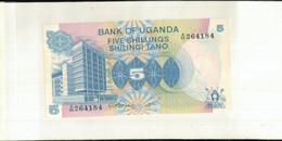 Billet Banque OUGANDA 5 Shillings  1979  TTB+  Sept 2020  Clas Noir 18 - Oeganda