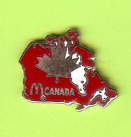 Pin's Mac Do McDonald's Canada (Carte) Feuille D'Érable - 8C11 - McDonald's