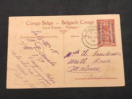 Carte Postale Mols 10c Rouge - KIGOMA [S] - Stamped Stationery