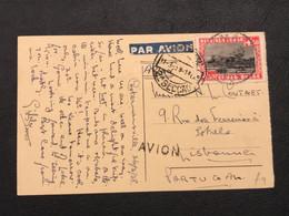 OBP 196A+171 Sur Carte Postale AVION BOMA - Lisbonne (Portugal) [S] - Congo Belge