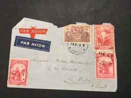 Lettre Par Avion - Leopoldville Postes - Hainaut [S] - Congo Belge