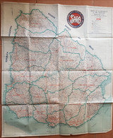1950 URUGUAY MAPA GRANDE, BIG MAP, GRANDE CARTE, HORACIO URETA MARTINEZ - Panini