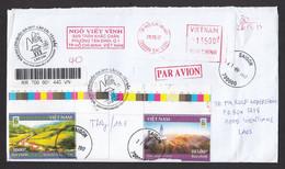 Vietnam 2017 Registered Airmail Saigon To Vientiane - Vietnam