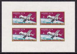 FEUILLET NEUF DE HONGRIE - SOYOUZ 6-7-8 N° Y&T PA 326 (ND) - Raumfahrt