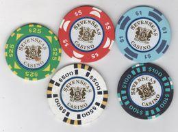 SEVENSEAS CASINO TOKEN,CHIP - Casino