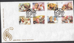 INDIA, 2014, FDC, Indian Musicians, Classical Singers, Music, Jabalpur Cancelled - FDC