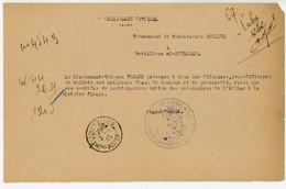 ALLIER TELEGRAMME 1945 MOULINS SUR ALLIER TELEGRAMME OFFICIEL MILITAIRE SUR FEUILLE VOLANTE CDT SUBDIVISION MOULINS SUR - 1921-1960: Periodo Moderno