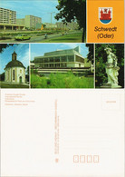 Schwedt/Oder DDR Mehrbild-AK Mit Kirche, Kulturhaus, Straßen Ansicht 1988 - Schwedt
