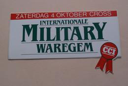 Internationale MILITARY WAREGEM - Sticker / Zelfklever / Autocollant ( Zie Foto ) +/- 6 X 14 Cm. / 4 Okt. 19?? ! - Equitation